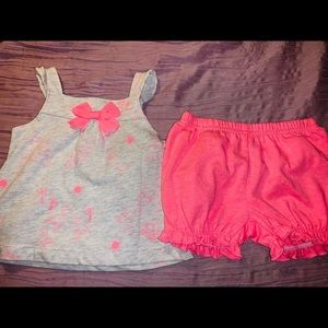 Brand new 2 piece carters flamingo go go outfit